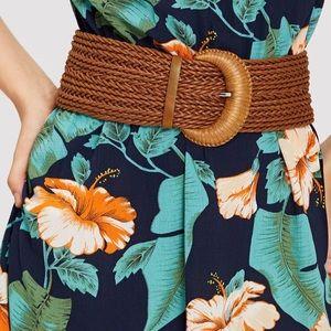 Accessories - Wide Braided Belt